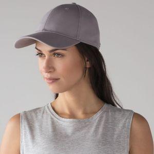 Lululemon dark chrome baller hat.